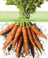 Personal Nutrition by Marie (College of St. Elizabeth) Boyle