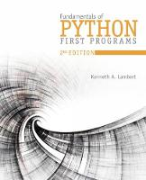 Fundamentals of Python First Programs and Data Structures by Kenneth (Washington and Lee University) Lambert
