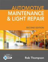 Automotive Maintenance & Light Repair by Rob (Columbus State Community College) Thompson