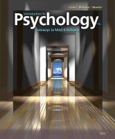 Introduction to Psychology Gateways to Mind and Behavior by Tanya (Brock University) Martini, Dennis Coon, Dennis Coon, John (Brock University) Mitterer