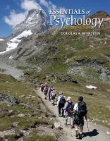 Essentials of Psychology by Douglas (University of South Florida) Bernstein