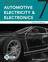 Today's Technician Automotive Electricity and Electronics Classroom Manual by Barry (Owner, Automotive Technology Training Development) Hollembeak