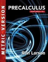 Precalculus, International Metric Edition by Ron Larson