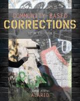 Community-Based Corrections by Leanne F. (University of Texas - El Paso) Alarid