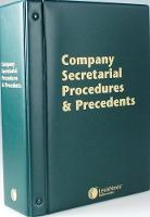 Butterworths Company Secretarial Procedures and Precedents Butterworths Company Secretarial Procedures and Precedents Pay-as-you-go Subscription by Kelly Millar