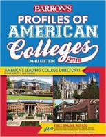 Profiles of American Colleges 2018 by Barron's College Division Staff