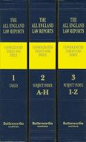 All England Law Reports Consolidated Tables and Index 1936-2017 by