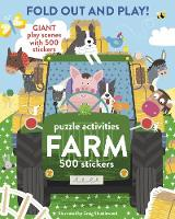 Fold Out and Play Farm Giant Sticker Scenes, Puzzle Activities, 500 Stickers by Craig Shuttlewood