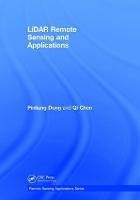 Lidar Remote Sensing and Applications by Pinliang Dong, Qi Chen
