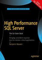 High Performance SQL Server The Go Faster Book by Benjamin Nevarez