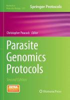 Parasite Genomics Protocols by Christopher Peacock