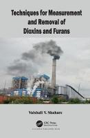 Techniques for Measurement and Removal of Dioxins and Furans by Vaishali (Rajdhani University of Delhi, India) Shahare