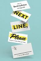 Next Line, Please Prompts to Inspire Poets and Writers by Angela Ball, Robert Wilson