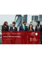 ICAEW Business, Technology and Finance Passcards by BPP Learning Media