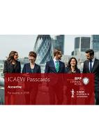 ICAEW Accounting Passcards by BPP Learning Media