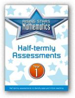 Rising Stars Mathematics Year 1 Half-termly Assessments by Steph King