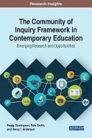 The Community of Inquiry Framework in Contemporary Education: Emerging Research and Opportunities by Peggy Semingson, Pete Smith, Henry I. Anderson