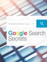 Google Search Secrets by Michael P. Sauers, Christa Burns