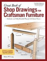 Great Book Of Shop Drawings For Craftsman Furniture by Lang