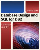 Database Design and SQL for DB2 by James Cooper