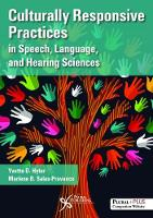 Culturally Responsive Practices in Speech, Language, and Hearing Sciences by Yvette D. Hyter, Marlene Salas-Provence