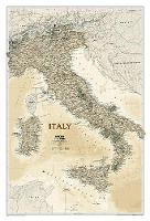 Italy Executive, Tubed Wall Maps Countries & Regions by National Geographic Maps