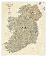 Ireland Executive, Tubed Wall Maps Countries & Regions by National Geographic Maps