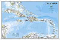 Caribbean Classic, Tubed Wall Maps Countries & Regions by National Geographic Maps