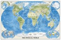 The Physical World, Poster Size, Tubed Wall Maps World by National Geographic Maps