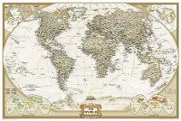 World Executive Map, Poster Sized, Boxed Wall Maps World by National Geographic Maps