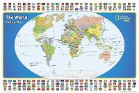 World For Kids, The, Poster Sized, Laminated Wall Maps World by National Geographic Maps