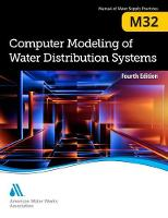 M32 Computer Modeling of Water Distribution Systems by American Water Works Association