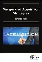 Merger & Acquisition Strategies by Terrence Walis