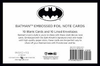 DC Comics: Batman Embossed Foil Note Cards (Set Of 10) by Insight Editions