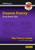 New Grade 9-1 GCSE English Literature AQA Unseen Poetry Guide - Book 2 by CGP Books