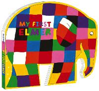 My First Elmer Shaped Board Book by David McKee