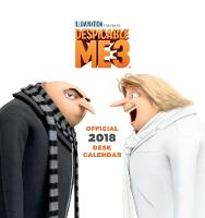 Despicable Me 3 Official Desk Easel 2018 Calendar - Month To View Desk Format by
