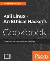 Kali Linux - An Ethical Hacker's Cookbook by Himanshu Sharma