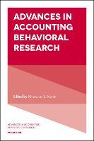 Advances in Accounting Behavioral Research by Karim E. Khondkar