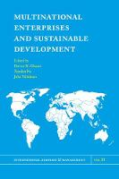 Multinational Enterprises and Sustainable Development by Pervez N. Ghauri