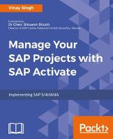 Manage Your SAP Projects with SAP Activate by Vinay Singh