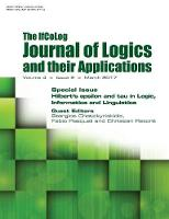 Ifcolog Journal of Logics and Their Applications. Hilbert's Epsilon and Tau in Logic, Informatics and Linguistics Volume 4, Number 2, March 2017 by Stergios Chatzikyriakis