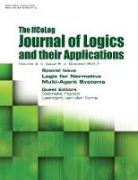Ifcolog Journal of Logics and Their Applications Volume 4, Number 9. Logic for Normative Multi-Agent Systems by Gabriella Pigozzi