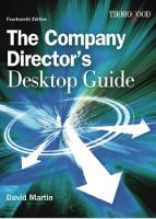 The Company Directors Desktop Guide by David Martin