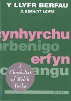 Llyfr Berfau, Y by D. Geraint Lewis