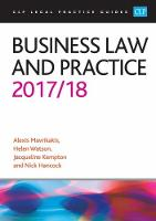Business Law and Practice 2017/2018 by Alexis Mavrikakis