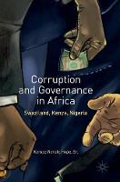 Corruption and Governance in Africa Swaziland, Kenya, Nigeria by Sr., Kempe Ronald Hope