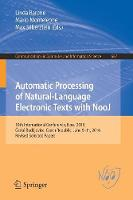 Automatic Processing of Natural-Language Electronic Texts with NooJ 10th International Conference, NooJ 2016, Ceske Budejovice, Czech Republic, June 9-11, 2016, Revised Selected Papers by Linda Barone