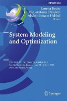 System Modeling and Optimization 27th IFIP TC 7 Conference, CSMO 2015, Sophia Antipolis, France, June 29 - July 3, 2015, Revised Selected Papers by Lorena Bociu