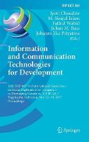 Information and Communication Technologies for Development 14th IFIP WG 9.4 International Conference on Social Implications of Computers in Developing Countries, ICT4D 2017, Yogyakarta, Indonesia, May by Jyoti Choudrie
